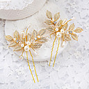 cheap Wedding Shoes-Imitation Pearl / Rhinestone / Alloy Headwear / Hair Pin with Floral 1pc Wedding / Special Occasion Headpiece