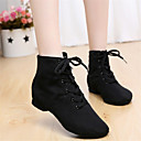 cheap Jazz Shoes-Women's Jazz Shoes Canvas / Leatherette Boots Non Customizable Dance Shoes Black / Red