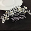 cheap Wedding Shoes-Women's Floral / Elegant & Luxurious Crystal / Imitation Pearl / Imitation Diamond Hair Comb / Hair Combs / Hair Combs