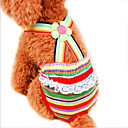 preiswerte Aufkleber für Nägel-Katze Hund Hosen Hundekleidung Streifen Regenbogen Baumwolle Kostüm Für Haustiere Cosplay Hochzeit