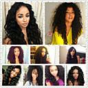 billige Hårvever med ekte hår-3 pakker Brasiliansk hår Bølget Ekte hår Menneskehår Vevet Hårvever med menneskehår Hairextensions med menneskehår