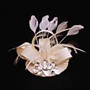 hesapli Parti Başlıkları-elmas taklidi tüyü saten fascinators başlığı klasik kadınsı stil
