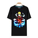 tanie Kostiumy anime-Zainspirowany przez Naruto Naruto Uzumaki Anime Kostiumy cosplay T-shirt Cosplay Nadruk Krótki rękaw Top Na Męskie