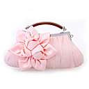 cheap Wedding Shoes-Women's Bags Satin Evening Bag Ruffles / Flower Red / Pink / Khaki
