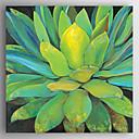 billige Menneske Malerier-Hang-Painted Oliemaleri Hånd malede - Blomstret / Botanisk Moderne Lærred
