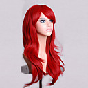 cheap Synthetic Capless Wigs-Synthetic Wig Curly / Natural Wave Asymmetrical Haircut Synthetic Hair Natural Hairline Red Wig Women's Long Capless