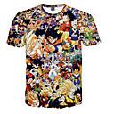halpa Anime-asut-Innoittamana Dragon Ball Son Goku Anime Cosplay-asut Cosplay T-paita Polka Dot / Painettu Lyhythihainen T-paita Käyttötarkoitus Miesten