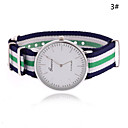 abordables Relojes de Moda-Mujer Reloj de Moda Gran venta Tejido Banda Rayas Múltiples Colores / Un año / Tianqiu 377