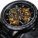 cheap Mechanical Watches-WINNER Men's Wrist Watch / Mechanical Watch Water Resistant / Water Proof / Hollow Engraving / Luminous Stainless Steel Band Luxury / Vintage Black / Silver / Automatic self-winding / Tachymeter