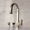 cheap Kitchen Faucets-Kitchen faucet - Contemporary Nickel Brushed Pull-out / ­Pull-down Deck Mounted
