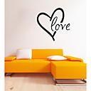 זול חפצים דקורטיביים-רומנטיקה צורות Words & Quotes מדבקות קיר מדבקות קיר מטוס מדבקות קיר דקורטיביות, PVC קישוט הבית מדבקות קיר קיר