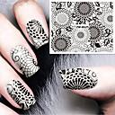 billige Negle Sticker-1 pcs Vandoverførings klistermærke Negle kunst Manicure Pedicure Mode Daglig