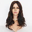billige Blondeparykker af menneskehår-Syntetiske parykker Krop Bølge Syntetisk hår Paryk Dame Blonde Front Sort