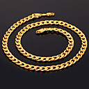 preiswerte Modische Halsketten-Damen Figaro Kette Klobig Ketten - vergoldet Modisch Silber, Golden, Rotgold Modische Halsketten Schmuck Für Weihnachts Geschenke, Hochzeit, Party