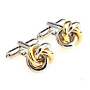 cheap Party Supplies-Golden Cufflinks Alloy Work / Casual Men's Costume Jewelry For