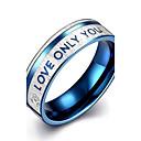 baratos Anéis-Mulheres Anéis de Casal / Anel de banda / Anel de declaração - Prata Chapeada Borla, Boêmio, Punk 7 / 8 / 9 Azul Para Casamento / Festa / Diário