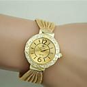 baratos Relógios da Moda-Mulheres Bracele Relógio imitação de diamante Lega Banda Fashion / Elegante Preta / Prata / Marrom / Um ano / Tianqiu 377