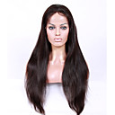 cheap Human Hair Wigs-Virgin Human Hair Full Lace / Lace Front Wig / U Part Wig Brazilian Hair Straight 130% / 150% / 180% Density With Baby Hair / Natural Hairline / African American Wig Women's Short / Medium Length