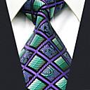 abordables Cubos de Rubik-cheque del bloque del color de la corbata del rayón del trabajo del partido de los hombres jacquard, básico