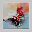 abordables Extensiones sintéticas-Pintura al óleo pintada a colgar Pintada a mano - Abstracto / Pop Art / Fantasía Modern / Tradicional Lona
