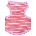 cheap Dog Clothes-Cat Dog Shirt / T-Shirt Dog Clothes Stripe Blue Pink Cotton Costume For Pets Men's Women's Fashion