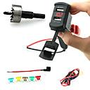 billige Dæk Målere-iztoss dual usb oplader socket plug rocker stil med voltmeter rød LED lys og ledninger sikringsholder og twist bore