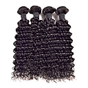 זול תוספות שיער בגוון טבעי-שיער מלזי מתולתל / מתולתל לארוג שיער בתולי טווה שיער אדם 4 חבילות 8-26 אִינְטשׁ שוזרת שיער אנושי שחור תוספות שיער אדם