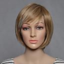 halpa Muut työkalut-Synteettiset peruukit Suora Vaaleahiuksisuus Synteettiset hiukset Vaaleahiuksisuus Peruukki Naisten Lyhyt Suojuksettomat Vaaleahiuksisuus