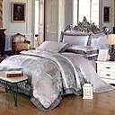 זול כיסויים גיאומטריים-סטי שמיכה פאר 4 חלקים מודאלי Tencel ג'אקארד מודאלי Tencel כריות מיטה 2 יחידות כרית מיטה יחידה 1 סדין יחידה 1