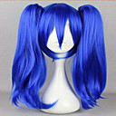 cheap Synthetic Capless Wigs-fashion master kagerou project enomoto takane blue two braids cosplay wig Halloween