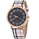 abordables Relojes de Moda-Mujer Reloj de Pulsera Reloj Casual Piel Banda Encanto / Moda Caqui