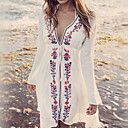cheap Favor Holders-Women's Boho Plunging Neck Cover-Up - Tribal Print