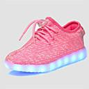 billige Sneakers til damer-Pige Sko Tyl Sommer Lysende Sko Komfort Sneakers Gang LED for Afslappet Grå Grøn Lys pink Marineblå