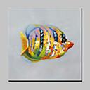 preiswerte Abstrakte Gemälde-Hang-Ölgemälde Handgemalte - Tiere Modern Mit der Fassung