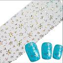 halpa Foil Paper-1 pcs Full Nail Tips Nail Jewelry kynsitaide Manikyyri Pedikyyri Lovely Abstrakti / Cartoon / Häät Päivittäin / Kynsien korut