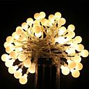 baratos Mangueiras de LED-5m Cordões de Luzes 40 LEDs LED Dip Branco Quente / RGB / Branco Recarregável / Impermeável 100-240 V / IP65