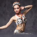 cheap Dance Accessories-Belly Dance Tops Women's Performance Cotton / Polyester Beading / Coin / Flower Top