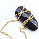 cheap Rhinestone & Decorations-50cm golden metal chain nail art decoration wide 1mm
