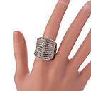 hesapli Moda Yüzükler-Kadın's Bildiri Yüzüğü / Ayarlanabilir halka - alaşım Vintage, Moda Ayarlanabilir Gümüş Uyumluluk Parti / Günlük / Kristal / Yapay Elmas