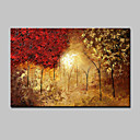voordelige Schilderijen van bloemen/planten-Hang-geschilderd olieverfschilderij Handgeschilderde - Bloemenmotief / Botanisch Modern Kangas