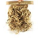 tanie Taśmy świetlne LED-Clip In Kucyki Elastyczny / Owinąć Włosie synetyczne Kawałek włosów Przedłużanie włosów Curly