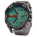 Недорогие Армейские часы-Муж. Армейские часы Кварцевый Нержавеющая сталь Серебристый металл Календарь С двумя часовыми поясами Cool Аналоговый Роскошь - Желтый Зеленый Синий Один год Срок службы батареи / SSUO LR626
