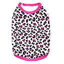 billige Hundetøj-Kat Hund T-shirt Hundetøj Leopard Sort Rose Sort/Gul Bomuld Kostume For kæledyr Herre Dame Mode