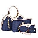 cheap Bag Sets-Women's Bags PU(Polyurethane) Tote / Clutch / Shoulder Bag 4 Pieces Purse Set Brown / Blue / Pink / Bag Set