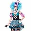 رخيصةأون ازياء موضوع الفيلم والتلفزيون-Alice in Wonderland خيالية أزياء Cosplay نسائي Film Cosplay أزرق فستان قبعة Halloween مهرجان البوليستر