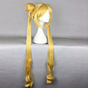 voordelige Anime Cosplay Pruiken-Synthetische pruiken / Kostuum pruiken Golvend Blond Met pony / Met paardenstaart Blond Synthetisch haar Sailor Moon Sailor Moon 24 inch(es) Dames Hittebestendig Blond Pruik Erg lang Machinegemaakt