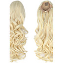 cheap Hair Pieces-synthetic 20 inch 150g long curly clip in micro ring ponytail hairpiece extensions excellent quality