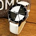 ieftine Ceasuri La Modă-Pentru cupluri Ceas de Mână Quartz Ceas Casual PU Bandă Analog Modă Elegant Negru / Alb / Roșu - Alb Negru Rosu