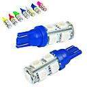 baratos Faróis para Carros-JIAWEN 10pçs T10 Carro Lâmpadas 1.2W SMD 5050 85lm Luz traseira / Lâmpada Decorativa / Luz de Trabalho