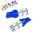 cheap Car Headlights-JIAWEN 10pcs T10 Car Light Bulbs 1.2W SMD 5050 85lm Tail Light / Decorative Lamp / Working Light